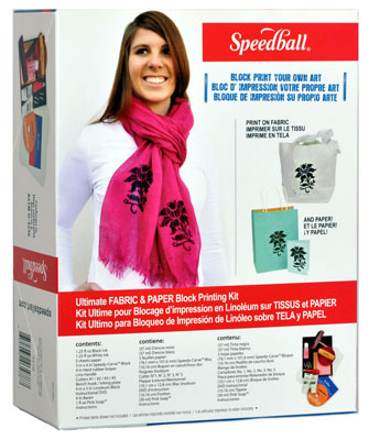 Speedball Ultimate Fabric Block Print Kit