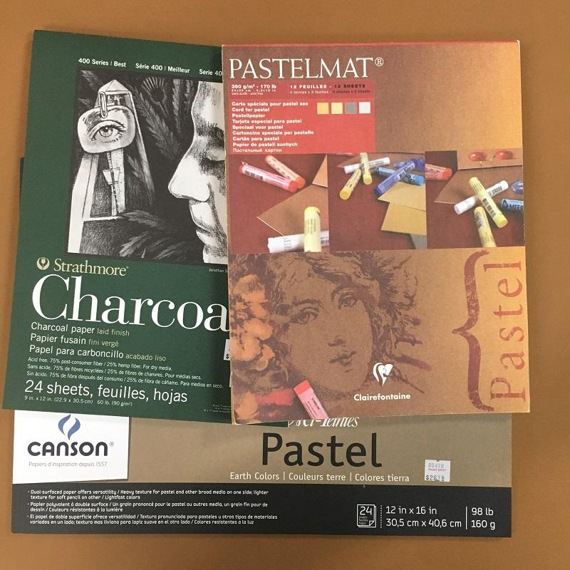Pastel Paper & Sanded Card