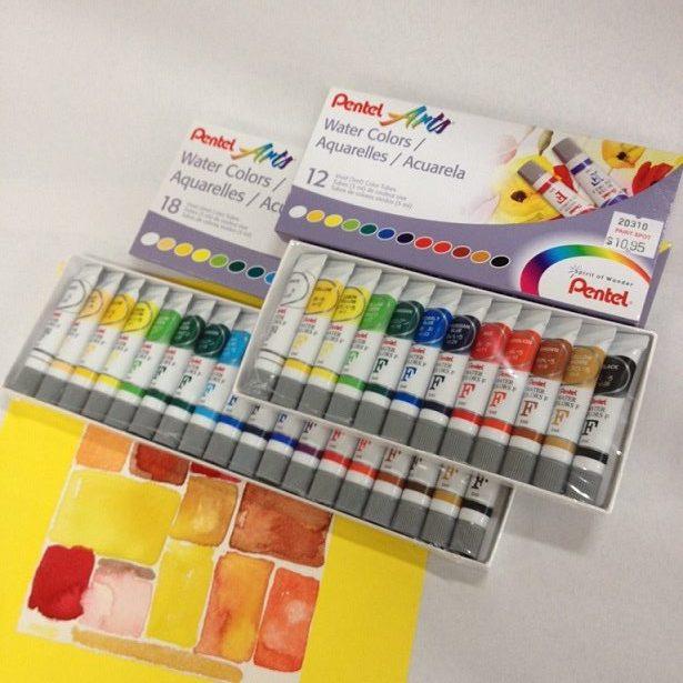 Pentel Watercolours in 5 ml Tubes