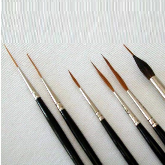 Script and Rigger Watercolour Brushes
