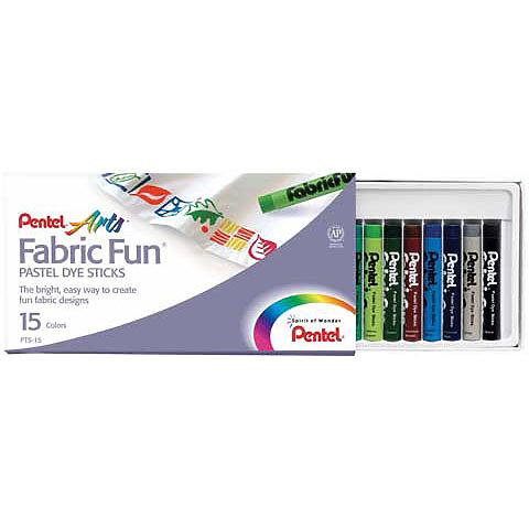 Pentel Fabric Fun Pastel Dye Stick Sets