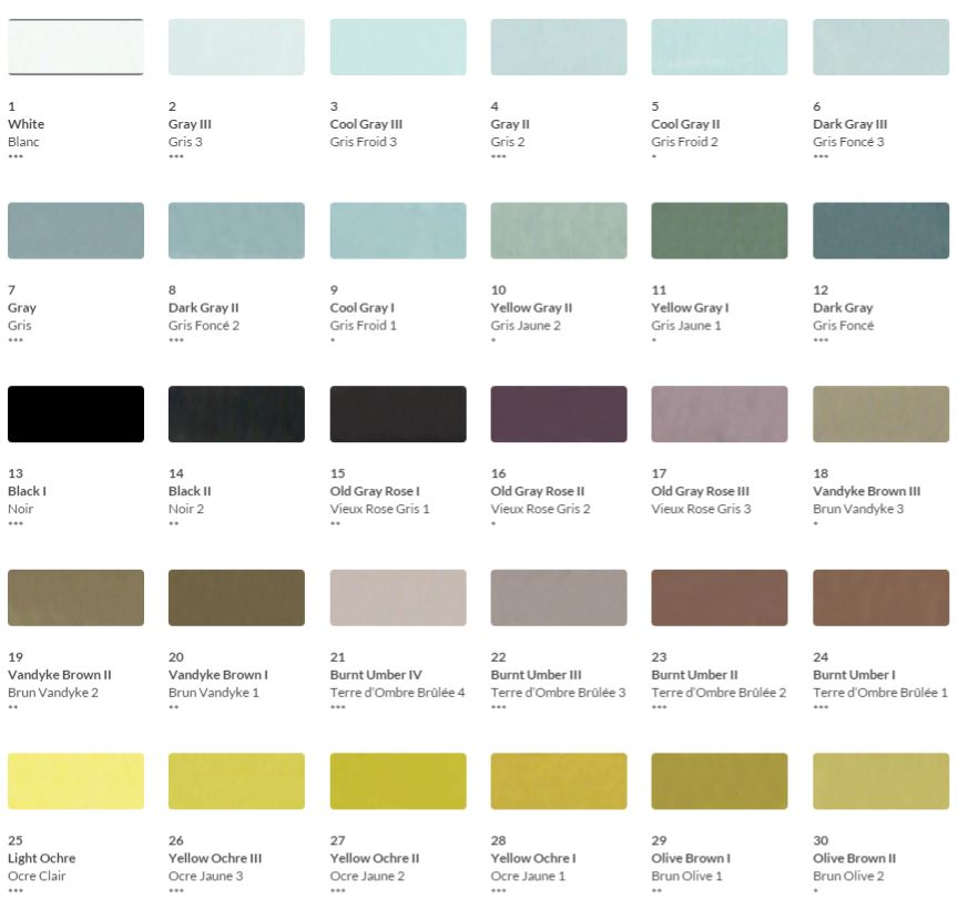 HKH Soft Pastel Colour Chart 1
