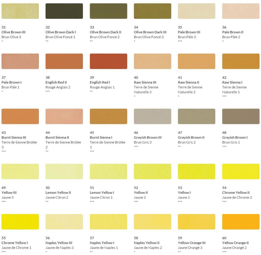 HKH Soft Pastel Colour Chart 2