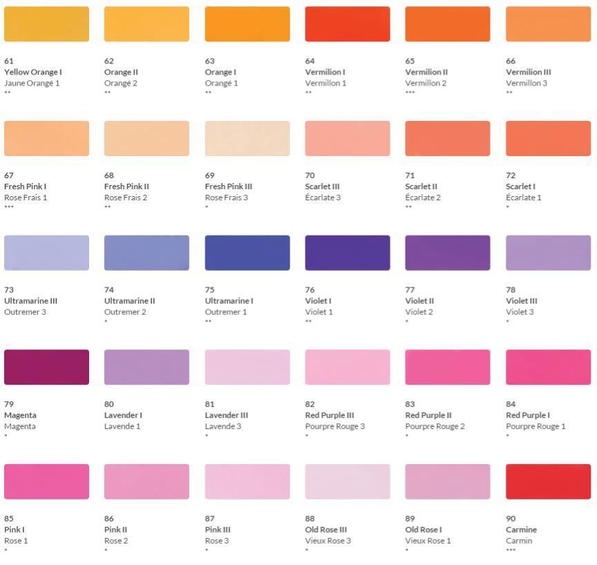 HKH Soft Pastel Colour Chart 3