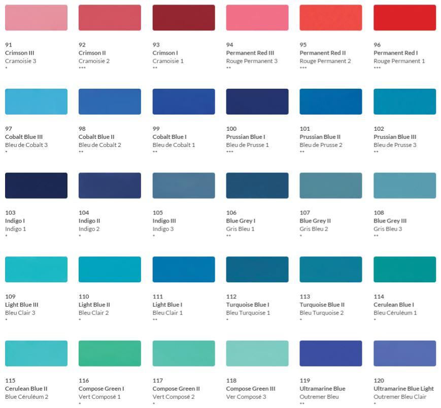 HKH Soft Pastel Colour Chart 4