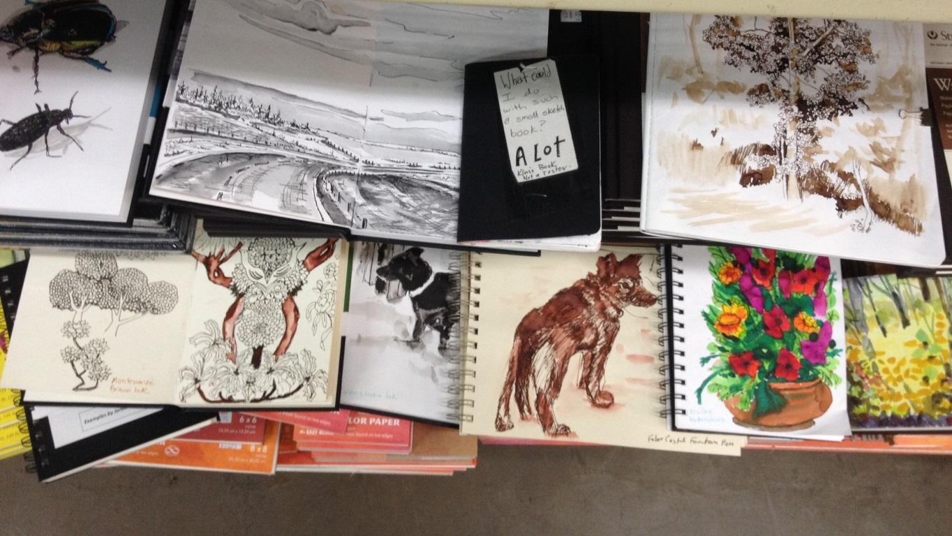 samples of sketchbooks on sale