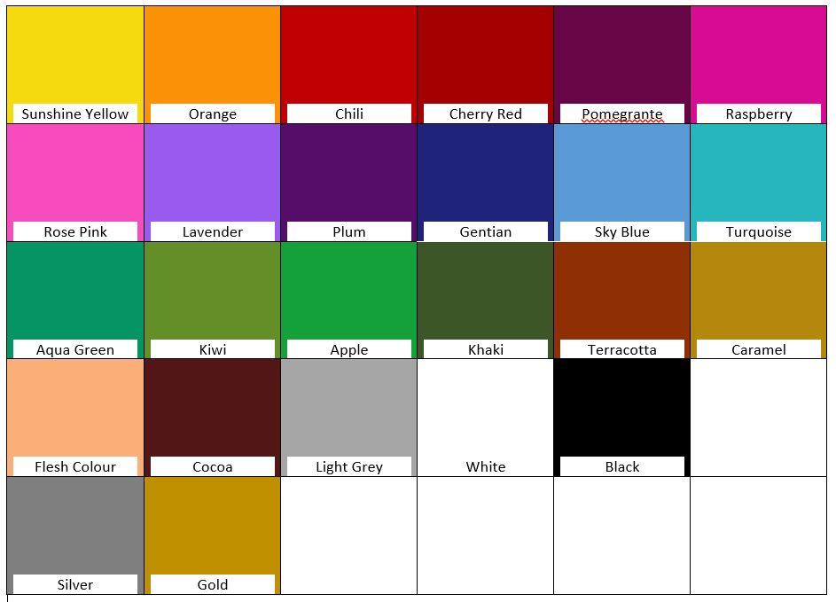Marabu Art Crayon Colour Chart