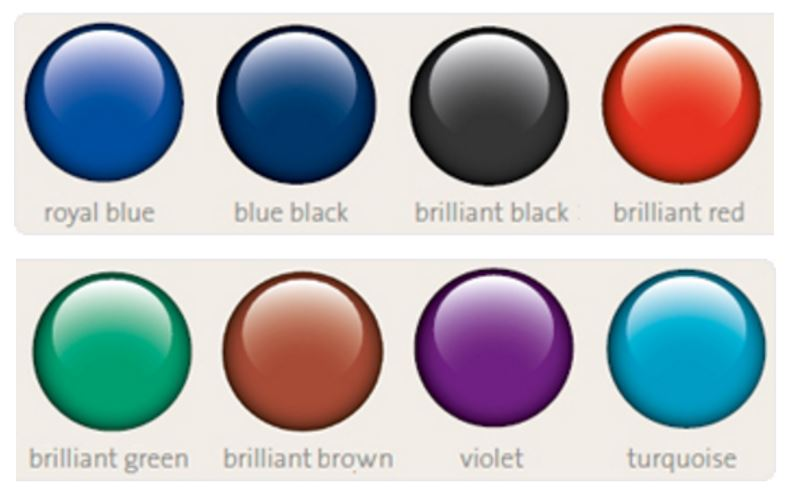 Pelikan Ink Colour Chart