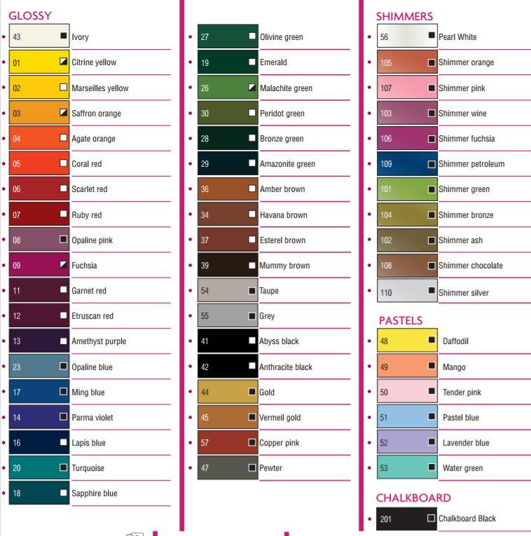 Porcelain 150 Colour Chart