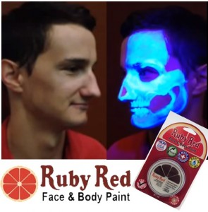 Ruby Red UV Paints for Face and Body