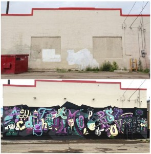Street Art before and after