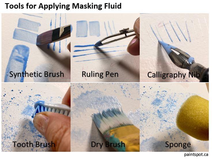 Applying Masking Fluid for Watercolours | The Paint Spot - Art Supplies and  Art Classes, Edmonton